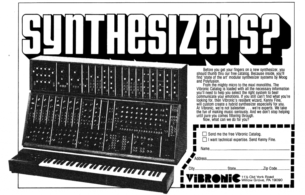 Vibronic Synthesizer Ad